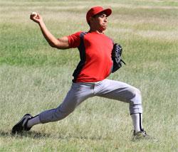 ボールを投げる動作